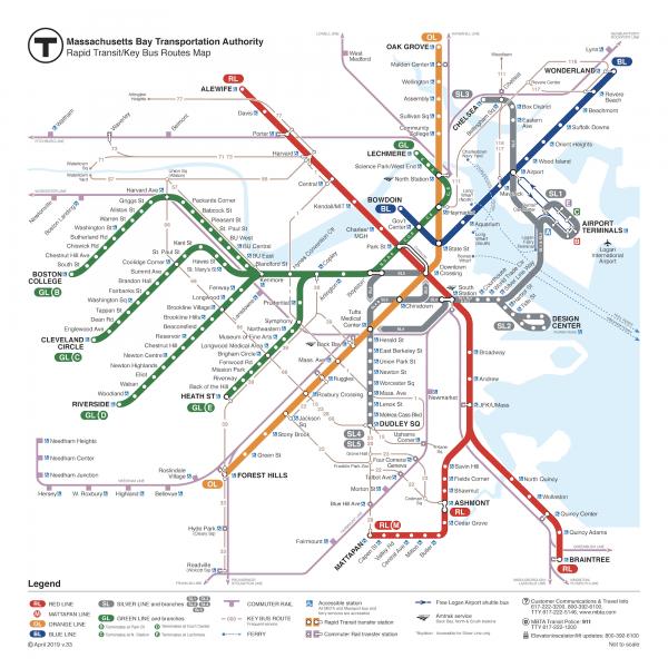 בוסטון - מפת רכבת תחתית