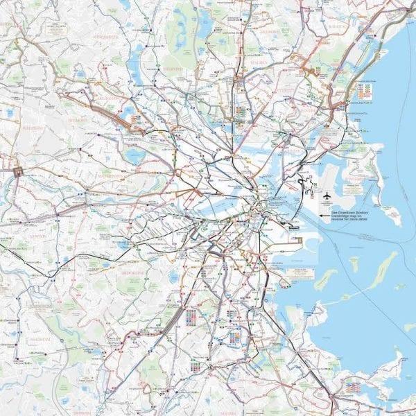 בוסטון - מפת תחבורה מלאה